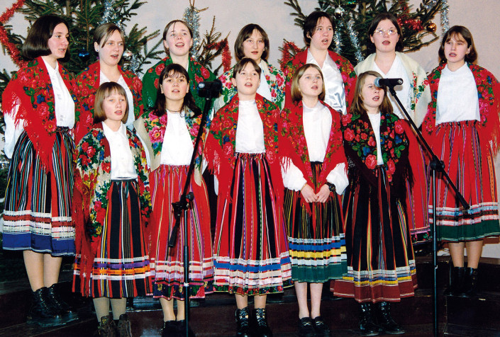 """Wyróżnione w kategorii zespołów folklorystycznych """"Wesołe nutki"""" z Zabłocia"""