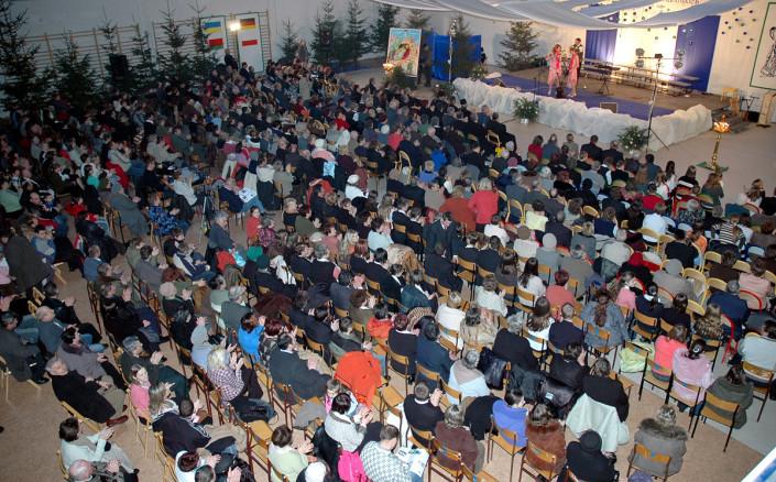 Licznie zgromadzona w nowej sali MOK publiczność XI MFKW - Terespol 2006