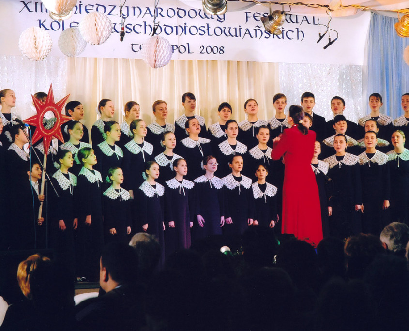 Winner of the second Grand Prix - Children's Choir at the Church of Transfiguration of Lord in Vinnitsa under the direction of Natalia Kremeniuk