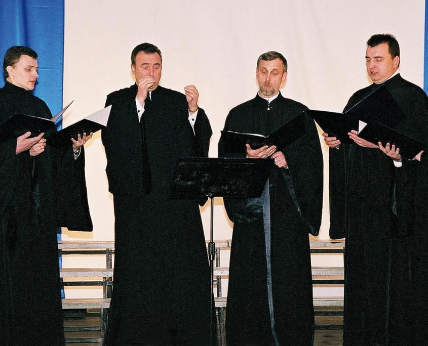 Męski Zespół Wokalny Katedry Prawosławnej pw. Przemienienia Pańskiego w Lublinie pod dyrekcją Andrzeja Boubleja