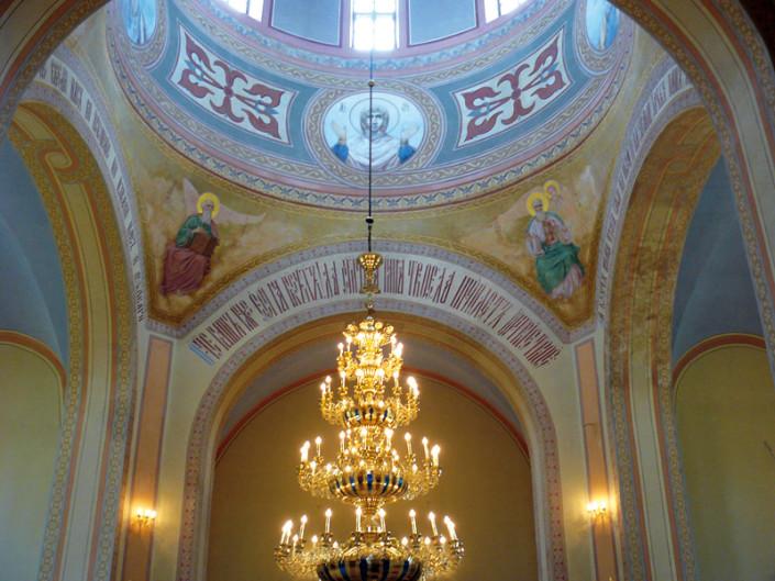 Wnętrze cerkwi prawosławnej w Dołhobyczowie, odrestaurowanej w ramach Projektu PL0242