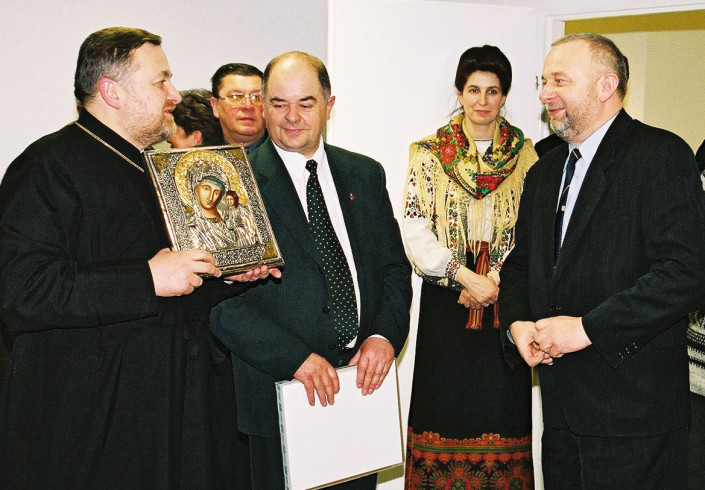 Ks. płk. Aleksy Andrejuk, Ryszard Korneluk, Maria Wysłocka-Fedosiuk i Jerzy Horbowiec