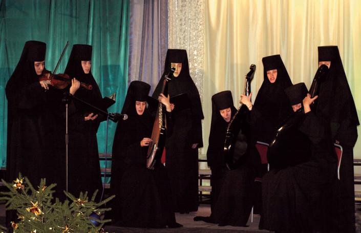 Chór mniszek z prawosławnego monasteru w Gródku na Ukrainie