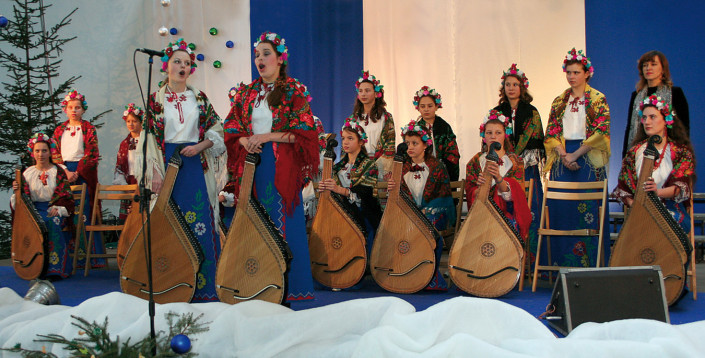 """Zespół """"Lileja"""" Państwowej Szkoły Muzycznej w Rownem na Ukrainie"""