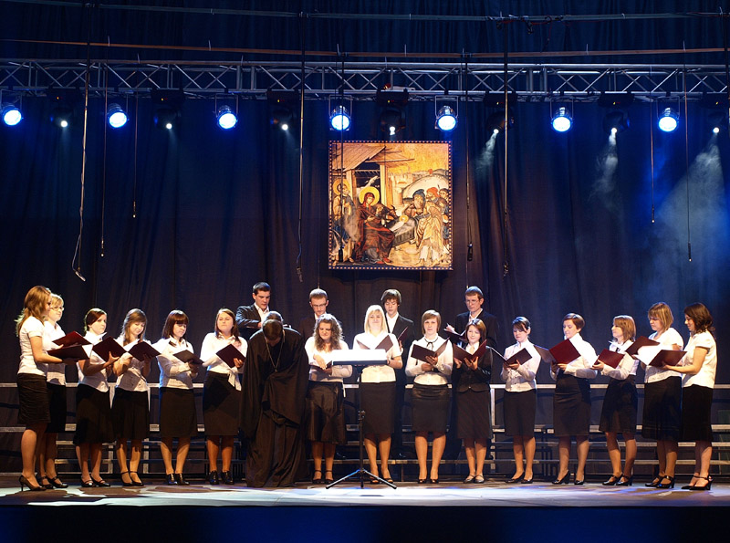 Choir of the Brotherhood of Orthodox Youth of Lublin - Chelm Orthodox Diocese - conductor - fr. Marcin Goscik
