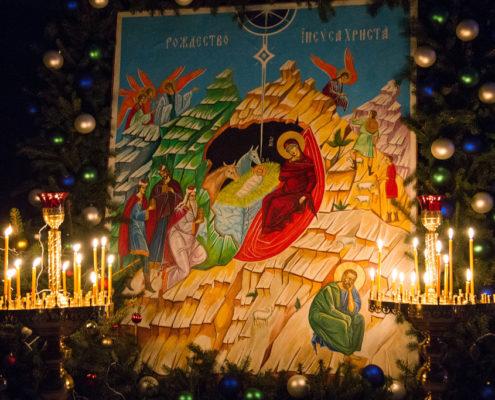 Ikona Bożego Narodzenia na proscenium XXII MFKW